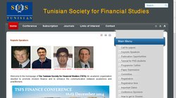 2nd Annual Tunisian Society for Financial Studies (TSFS) Finance Conference 2014