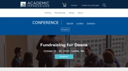 Fundraising for Deans 2015