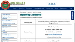 International Conference on Researches in Engineering & Technology 2015