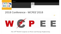 The 7th World Congress on Power and Energy Engineering - WCPEE`2015