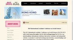 International Academic Conference on Social Sciences (IACSS 2015)