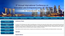 5th Annual International Conference on Innovation and Entrepreneurship (IE 2015)
