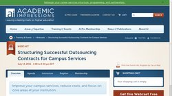 Structuring Successful Outsourcing Contracts for Campus Services 2015