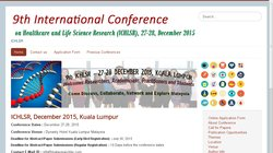 9th International Conference on Healthcare and Life Science Research (ICHLSR 2015)