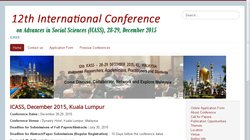 12th International Conference on Advances in Social Sciences (ICASS 2015)