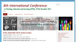 8th International Conference on Teaching, Education and Learning (ICTEL 2015)