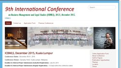 9th International Conference on Business Management and Legal Studies (ICBMLS 2015)