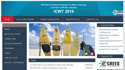 2nd International Conference on Water Technology (ICWT 2016)