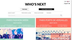 Who`s Next Paris Porte De Versailles 2014