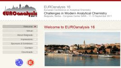XVI EUROanalysis - European Conference on Analytical Chemistry 2011