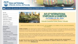 AVS 62nd International Symposium and Exhibition 2015