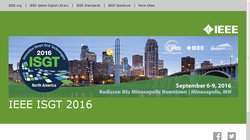IEEE PES Innovative Smart Grid Technologies (ISGT North America 2016)
