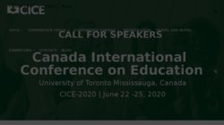 Canada International Conference on Education (CICE-2017)