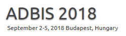 22nd European Conference on Advances in Databases and Information Systems (ADBIS 2018)