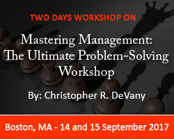 Mastering Management: The Ultimate Problem-Solving Workshop 2017