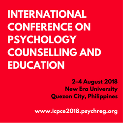 1st International Conference on Psychology, Counselling and Education (ICPCE 2018)
