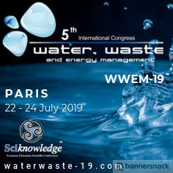 5th International Congress on Water, Waste and Energy Management 2019