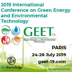 GEET 19 -  International Conference on Green Energy and Environmental Technology 2019