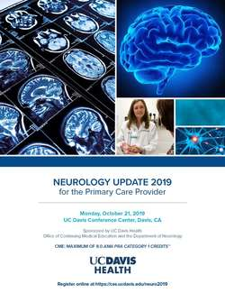 Neurology Update 2019 for the Primary Care Provider