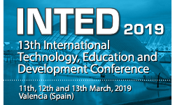 INTED2019 - The 13th International Technology, Education and Development Conference