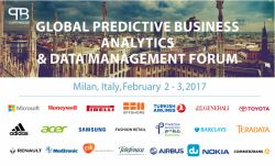 Global Predictive Business Analytics & Data Management Forum 2017