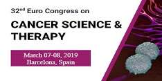 32nd Euro Congress on Cancer Science & Therapy 2019