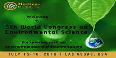 5th World Congress on Environmental Science 2019
