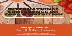 International Conference on Food and Nutrition 2019