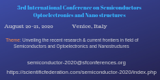 3rd International Conference on Semiconductors, Optoelectronics and Nanostructures
